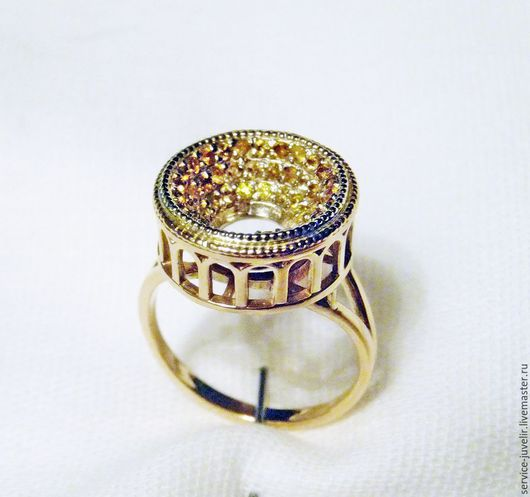 Кольца ручной работы. Ярмарка Мастеров - ручная работа. Купить Кольцо  серебренное, золотое  КОЛИЗЕЙ с камнями. Handmade. Золотой