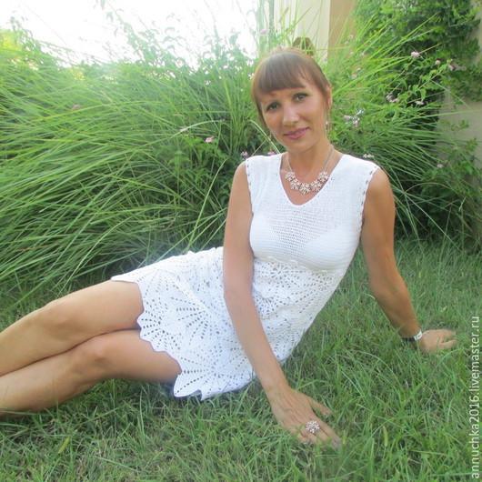 """Платья ручной работы. Ярмарка Мастеров - ручная работа. Купить Платье """"листопад"""". Handmade. Белый, 100% хлопок"""