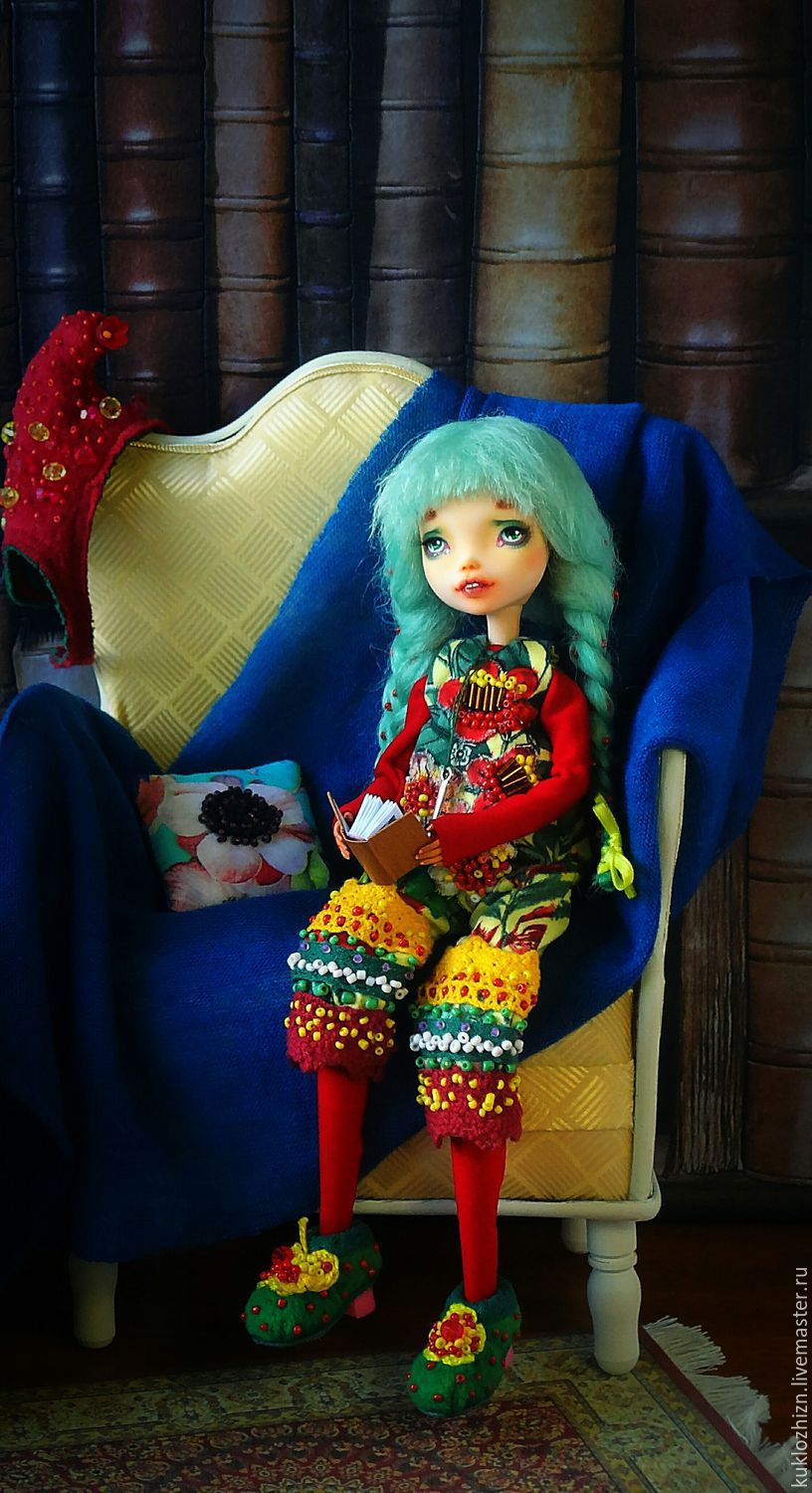 OOAK. Articulated doll Molly. Home gnome, Ball-jointed doll, Komsomolsk-on-Amur,  Фото №1