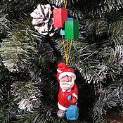 Сувениры и подарки handmade. Livemaster - original item Christmas tree toy made of wood carved figure Santa Claus. Handmade.