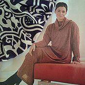 Одежда ручной работы. Ярмарка Мастеров - ручная работа Платье-водолазка из трикотажа в пол, на размер 54-56. Handmade.