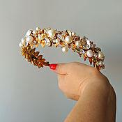 Диадемы ручной работы. Ярмарка Мастеров - ручная работа Тиара для волос Wedding Crystals. Handmade.