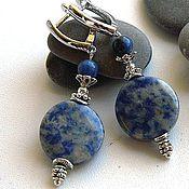 Украшения handmade. Livemaster - original item Earrings with sodalite for luxury erodirovannoj fittings. Handmade.