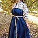 Платья ручной работы. Ярмарка Мастеров - ручная работа. Купить Платье ярусное клиньями. Handmade. Платье, одежда из льна