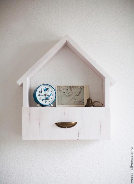 Мебель ручной работы. Ярмарка Мастеров - ручная работа. Купить Уютный домик-полочка. Handmade. Кремовый, полка для кухни