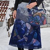 """Одежда ручной работы. Ярмарка Мастеров - ручная работа Валяный комплект """"Синий Вечер"""". Handmade."""