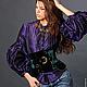"""Блузки ручной работы. Ярмарка Мастеров - ручная работа. Купить Блузка """"Мистик"""" фиолетовая шелковая. Handmade. Тёмно-фиолетовый, красота"""