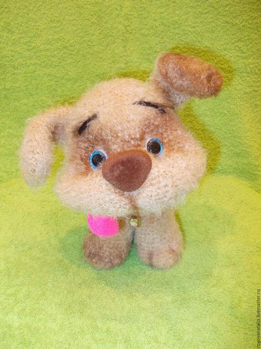 """Игрушки животные, ручной работы. Ярмарка Мастеров - ручная работа. Купить """"Пёсик Барбосик"""". Handmade. Бежевый, щенок, проволочный каркас"""