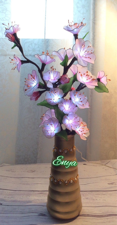 Светильник Сакура. Цветы из капрона, Цветы, Химки, Фото №1