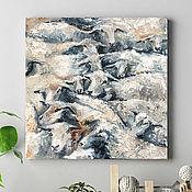 Картины и панно handmade. Livemaster - original item Sheep, picture with animals, picture of a village.. Handmade.