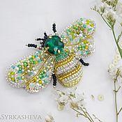 Украшения handmade. Livemaster - original item Brooch-pin: Bee embroidered with beads. Handmade.