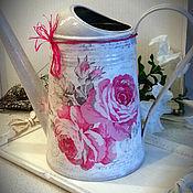Подарки к праздникам handmade. Livemaster - original item Watering can rose of Provence. Handmade.