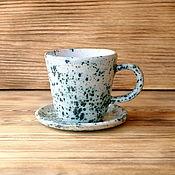 """Посуда ручной работы. Ярмарка Мастеров - ручная работа Чайная пара """"Рокфор"""". Handmade."""