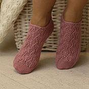Аксессуары handmade. Livemaster - original item Tracery wool short socks