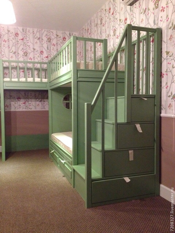 ... Bunk Bed. Has Two Beds On The Lower And Upper Layer, ...