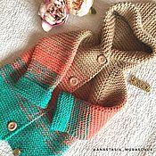 Работы для детей, ручной работы. Ярмарка Мастеров - ручная работа Детское вязаное пальтишко. Handmade.