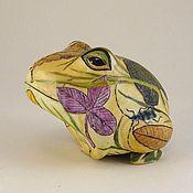 """Для дома и интерьера ручной работы. Ярмарка Мастеров - ручная работа """"Лето""""- лягушка. Handmade."""