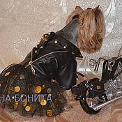 """Для домашних животных, ручной работы. Ярмарка Мастеров - ручная работа Курточка """"Косуха"""" с юбочкой.. Handmade."""