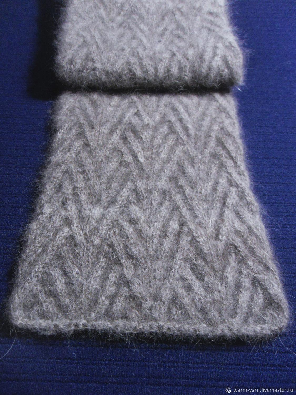 Men S Knitted Scarf Grey Zakazat Na Yarmarke Masterov Bmxvncom Sharfy Klin