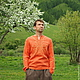 "Для мужчин, ручной работы. Ярмарка Мастеров - ручная работа. Купить Рубаха льняная мужская  ""Солнышко"". Handmade. Льняная одежда"