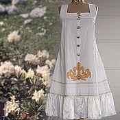 Одежда ручной работы. Ярмарка Мастеров - ручная работа Сарафан Горные цветы. Handmade.