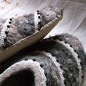 """Обувь ручной работы. Ярмарка Мастеров - ручная работа Валяные тапочки """"Карельская черёмуха"""". Handmade."""