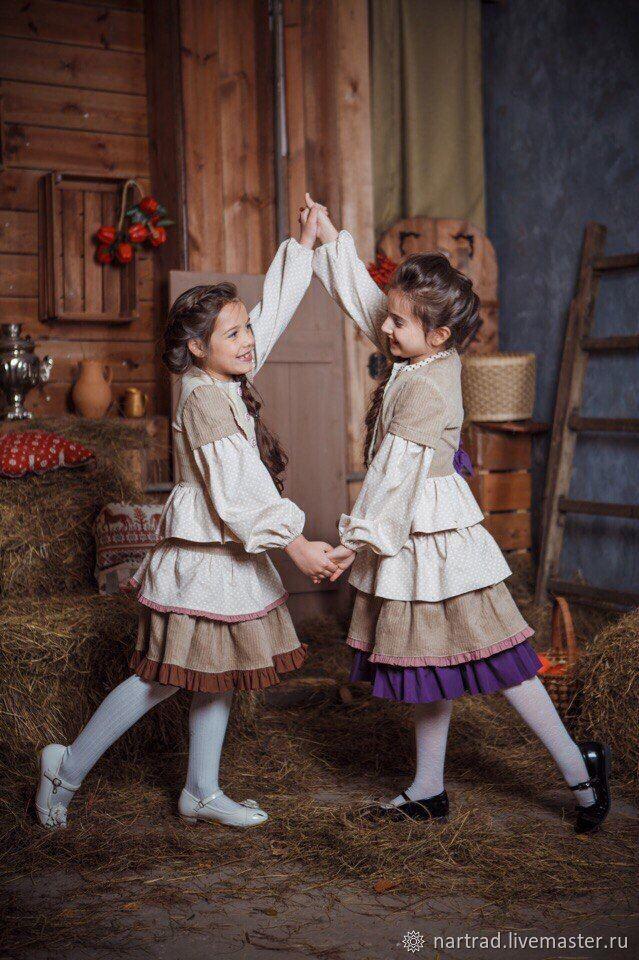 Жакет и юбка бохо стиль для девочки