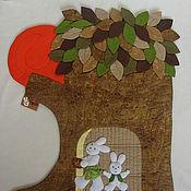 """Для дома и интерьера ручной работы. Ярмарка Мастеров - ручная работа Панно """"Зайкина семья"""". Handmade."""
