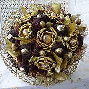 Подарки к праздникам ручной работы. Ярмарка Мастеров - ручная работа Юбилейный Букет из носков и конфет. Handmade.