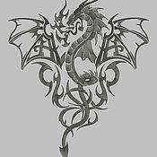 Дракон вышивка машинная
