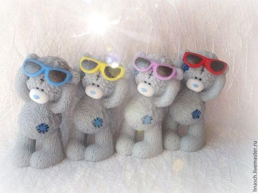 Мыло ручной работы. Ярмарка Мастеров - ручная работа. Купить Мишутка в очках. Handmade. Ярко-зелёный, сувениры и подарки