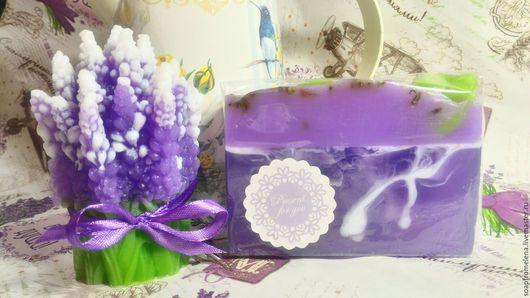 """Мыло ручной работы. Ярмарка Мастеров - ручная работа. Купить """"Любимая Лаванда""""// набор лавандового мыла. Handmade. Фиолетовый"""