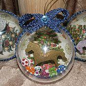 """Подарки к праздникам ручной работы. Ярмарка Мастеров - ручная работа """"Подарки под елкой"""" набор елочных шаров. Handmade."""