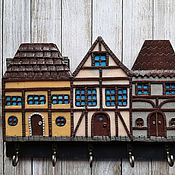 Для дома и интерьера handmade. Livemaster - original item Housekeeper Alpine Houses 4. The housekeeper wall.. Handmade.