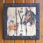 Для дома и интерьера ручной работы. Ярмарка Мастеров - ручная работа Часы настенные Лошадки. Handmade.