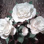 Цветы ручной работы. Ярмарка Мастеров - ручная работа Роза  праздник. Handmade.