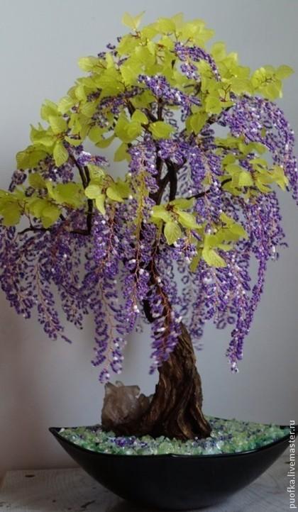 Бонсай ручной работы. Ярмарка Мастеров - ручная работа дерево бонсай из бисера. Handmade.