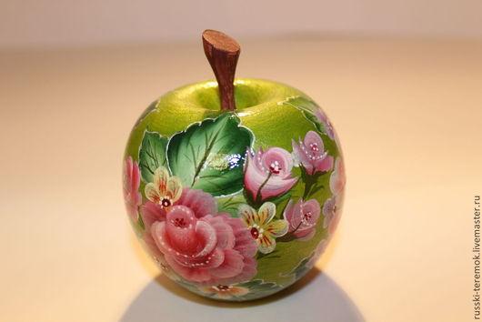 Персональные подарки ручной работы. Ярмарка Мастеров - ручная работа. Купить шкатулка -яблоко. Handmade. Розовый, подарок девушке