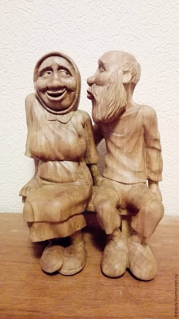 Wooden statue 'Gatherings', Souvenirs3, Dzerzhinsk,  Фото №1