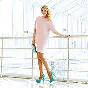 Одежда ручной работы. Ярмарка Мастеров - ручная работа Платье розовое из тонкой шерсти. Handmade.