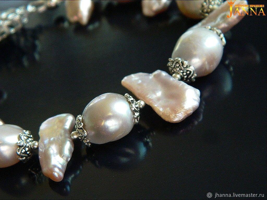 Pearl. ' Lavender souffle' bracelet of natural pearls, Bead bracelet, Volgograd,  Фото №1