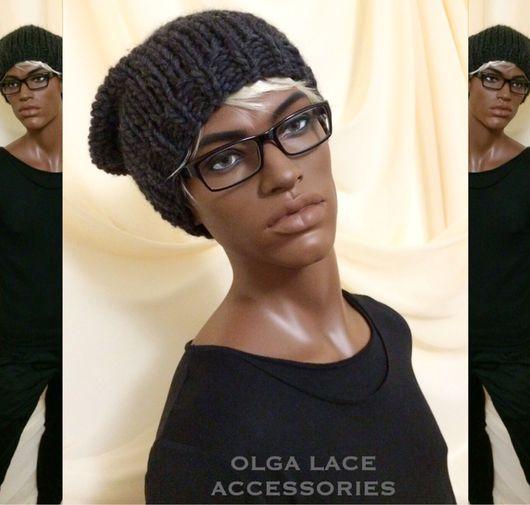 Для мужчин, ручной работы. Ярмарка Мастеров - ручная работа. Купить Мужская вязаная шапка от Olga Lace. Handmade.