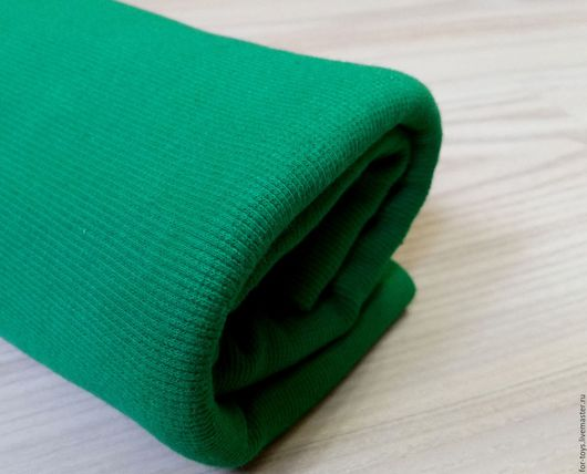Трикотаж - кашкорсе. Цвет зеленый