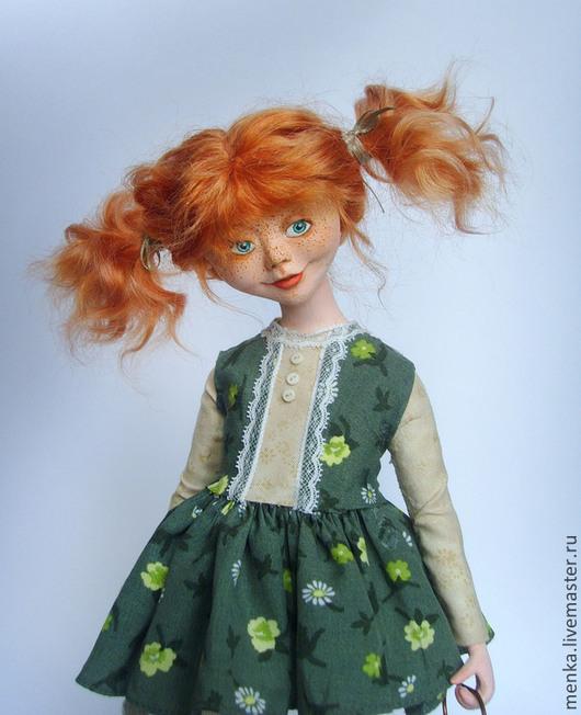 Коллекционные куклы ручной работы. Ярмарка Мастеров - ручная работа. Купить Глаша.. Handmade. Рыжий, рыжая кукла, шерсть для валяния