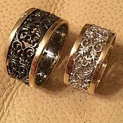 Wedding rings handmade. Livemaster - original item Wedding rings made of silver and gold. Handmade.