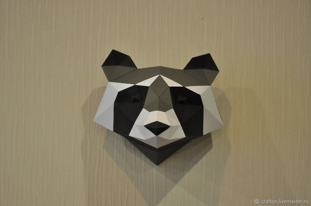 Paper Trophy Raccoon On The Wall Crafton Online Shopping My Livemaster