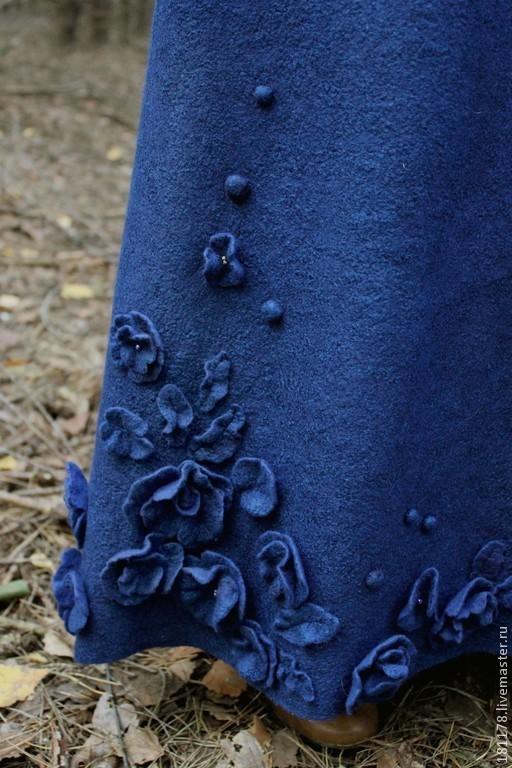 """Платья ручной работы. Ярмарка Мастеров - ручная работа. Купить Двухстороннее теплое платье """"Гвенифер"""". Handmade. Тёмно-синий, ретро"""