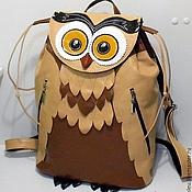 """Сумки и аксессуары ручной работы. Ярмарка Мастеров - ручная работа """"Сладкая Совушка"""" кожаный дизайнерский рюкзак. Handmade."""