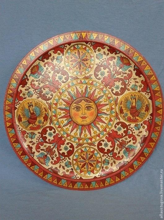 """Быт ручной работы. Ярмарка Мастеров - ручная работа. Купить Тарелка""""Солнце"""". Handmade. Солнце, Авторский дизайн, интересный подарок"""