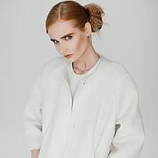 Одежда ручной работы. Ярмарка Мастеров - ручная работа Жакет с вертикальными карманами. Handmade.